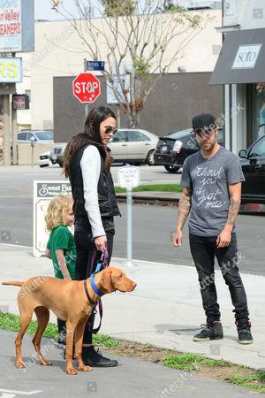 Bronx, Megan Camper, Pete Wentz and their new puppy