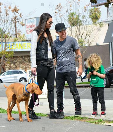 Megan Camper, Pete Wentz, Bronx and their new puppy