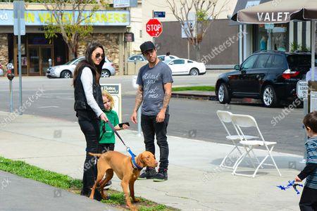 Megan Camper, Bronx, Pete Wentz and their new puppy