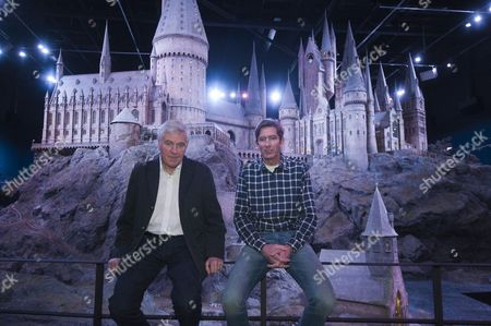 Model Of Hogwarts Castle Which Was Built For The Harry Potter Movies On Show For The First Time As Part Of The Planned Warner Bros Harry Potter Studio Tour In North London. Pictured With Chief Model Maker Jose Granell And Production Designer Stuart Craig.