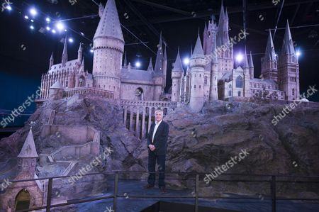 Model Of Hogwarts Castle Which Was Built For The Harry Potter Movies On Show For The First Time As Part Of The Planned Warner Bros Harry Potter Studio Tour In North London. Pictured With Production Designer Stuart Craig. 01/03/12.