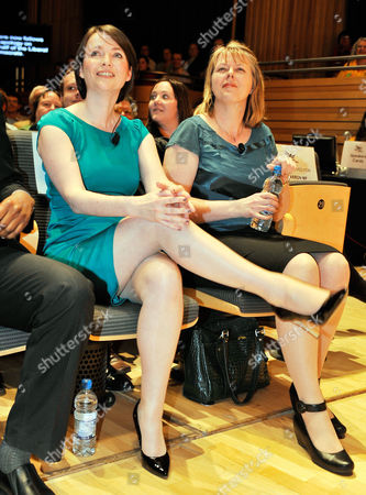 Kirsty Williams (l) With Clare Mills (r) Liberal Democrats Conference. Lib Dem Spring Conference At The Sage Gateshead Tyne And Wear.- Lib Dem Welsh Assembly Member Kirsty Williams (l) With Clare Mills (r) At A Party Rally At The Sage Concert Hall.