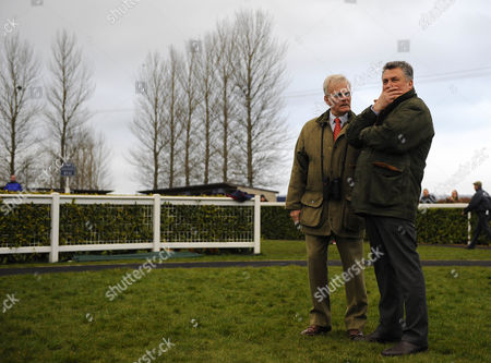 The Kauto Star Gallops At Wincanton Owner Clive Wood And Trainer Paul Nicholls March 09 2012 -
