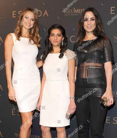 Stacy Keibler, Megha Mittal and Berenice Marlohe