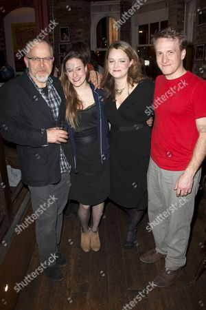 Matthew Marsh (Robert), Mariah Gale (Catherine), Emma Cunniffe (Claire) and Jamie Parker (Hal)