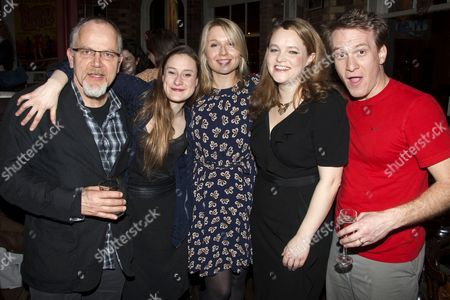 Matthew Marsh (Robert), Mariah Gale (Catherine), Polly Findlay (Director), Emma Cunniffe (Claire) and Jamie Parker (Hal)