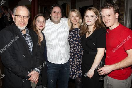 Matthew Marsh (Robert), Mariah Gale (Catherine), David Babani (Artistic Director), Polly Findlay (Director), Emma Cunniffe (Claire) and Jamie Parker (Hal)