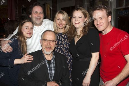 Mariah Gale (Catherine), David Babani (Artistic Director), Matthew Marsh (Robert), Polly Findlay (Director), Emma Cunniffe (Claire) and Jamie Parker (Hal)