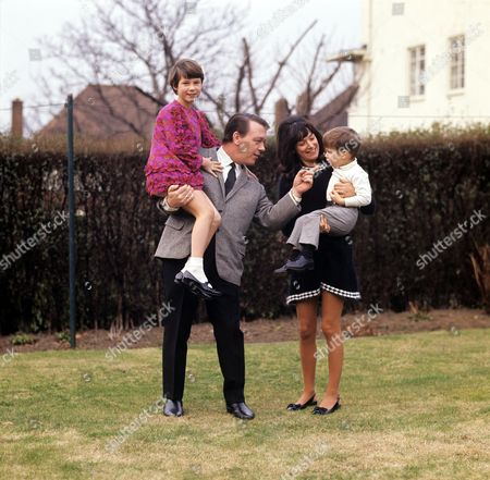 Stock Photo of Matt Monro with wife Mickie and daughter Michele and son Matthew