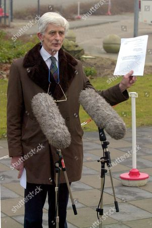 Editorial image of Lockerbie Verdict Day. Dr Jim Swire Talks To The Press After The Verdict Is Given. Jim Swire Has Devoted Practically Every Walking Moment Over The Last 12 Years To His Search For The Truth About Lockerbie. It Is The Only Way He Can Deal With The Dail