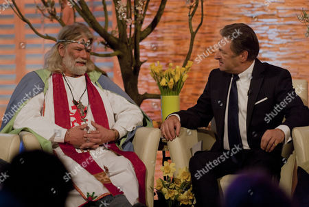 Stock Image of Arthur Uther Pendragon and Alan Titchmarsh