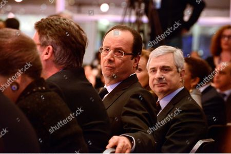 Stock Image of Francois Hollande and Claude Bartelone