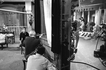 Moira Redmond, Ian Colin, behind the scenes