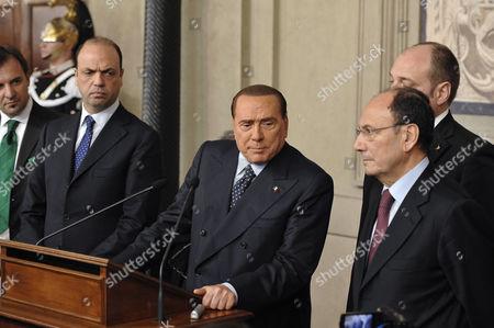 The Secretary Angelino Alfano, Silvio Berlusconi, Renato Schifani