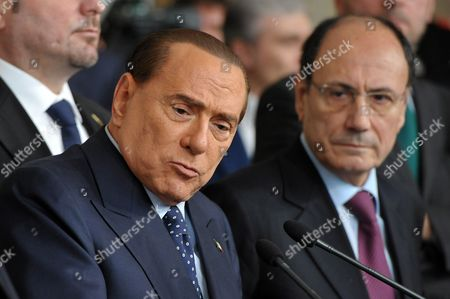 Silvio Berlusconi and Renato Schifani