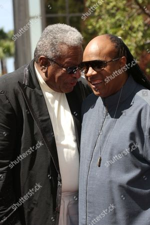 Stock Photo of Jack Ashford and Stevie Wonder