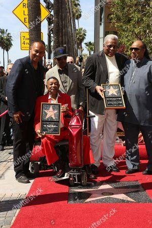 Stock Picture of Ray Parker Jr., Jack Ashford, Eddie Willis and Stevie Wonder