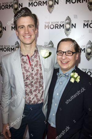Gavin Creel (Elder Price) and Jared Gertner (Elder Cunningham)