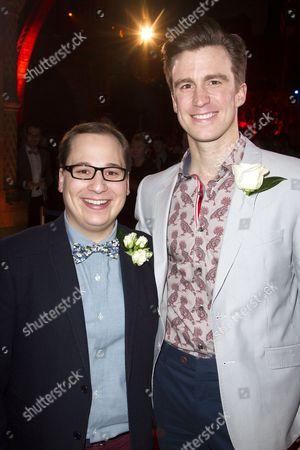 Jared Gertner (Elder Cunningham) and Gavin Creel (Elder Price)