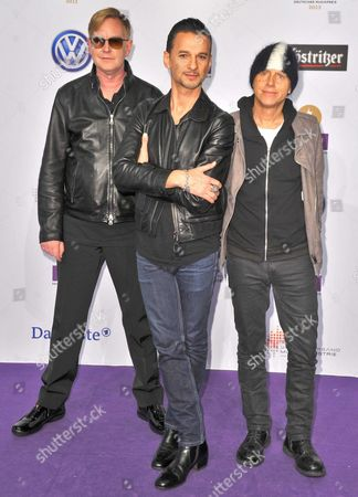 Andrew Fletcher, Dave Gahan and Martin Lee