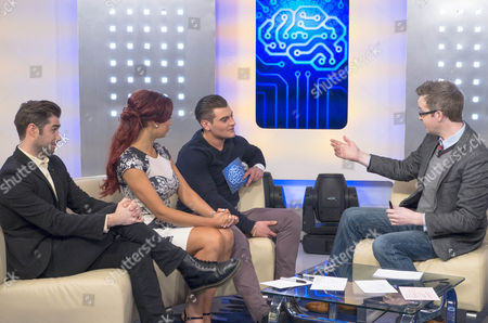 Matt Johnson, Amy Childs and Matt Lapinskas with David Meade.