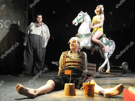 Dean Nolan as Harold, Mike Shepherd as Albert, Kirsty Woodward as The Woman