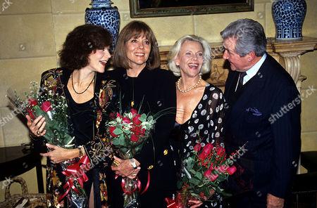 Linda Thorson, Diana Rigg, Honor Blackman and Patrick MacNee