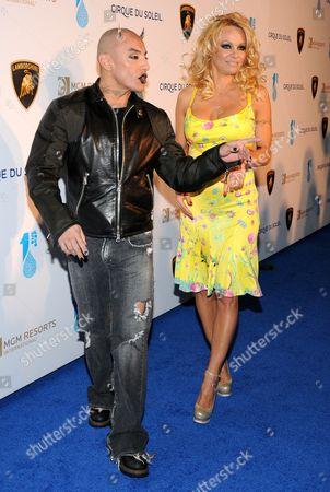 Jesus Villa and Pamela Anderson