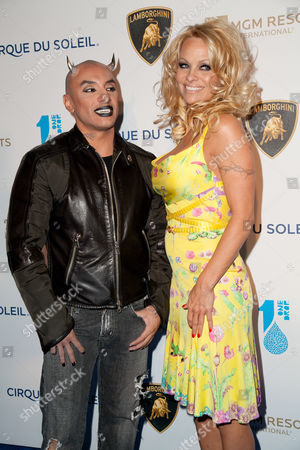 Stock Photo of Jesus Villa with Pamela Anderson