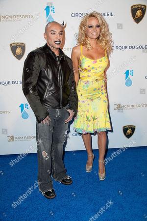 Jesus Villa with Pamela Anderson