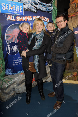 Stock Image of Jo Joyner with husband Neil Madden and children Freddie and Edie
