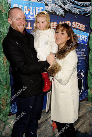 Stock Picture of Natalie Cassidy boyfriend Adam Cottrell and daughter Eliza
