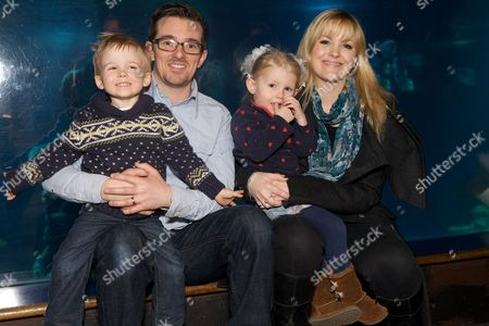 Stock Photo of Jo Joyner with husband Neil Madden and children Freddie and Edie