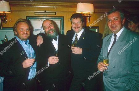 L TO R ANTONY WORRALL THOMPSON, ROY ACKERMAN, BRIAN TURNER AND RICHARD SHEPHERD