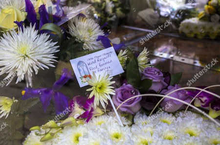 Flowers from Freddie Foreman and family