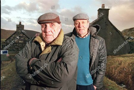 Feature On Gearrannan Blackhouse Village On The West Coast Of Lewis Scotland. Donald Macleod And His Brother Calum Were Forced To Leave These 300 Year Old Traditional Croft Homes 25 Years Ago. Now With A Lottery Grant The Blackhouses Are To Be Restored.