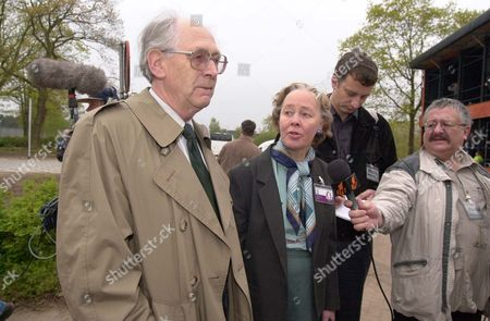 First Day Of The Lockerbie Trial - Rev John Mosey And Jane Swire Wife Of Dr Jim Swire Arrive At Court.