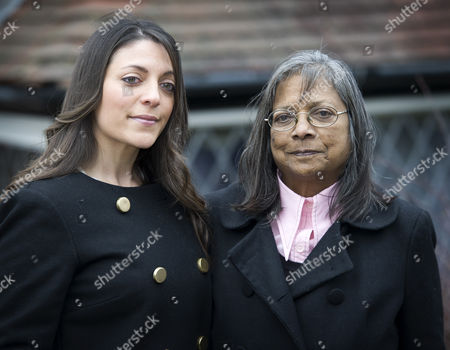 Editorial photo of Meredith Kercher's mother and sister, Arline and Stephanie Kercher, at their Coulsdon home, Surrey, Britain - 26 Mar 2013