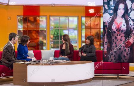 Stock Image of John Stapleton and Lorraine Kelly with Josie Cunningham and Jeni Barnett