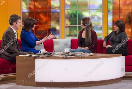 John Stapleton and Lorraine Kelly with Josie Cunningham and Jeni Barnett