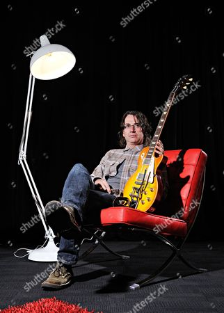 Manchester United Kingdom - June 21: Portrait Of Stone Gossard Rhythm Guitarist With American Grunge Rock Group Pearl Jam Before A Performance At The Manchester Evening News Arena On June 21
