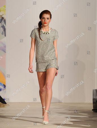 Jade Thompson on the catwalk