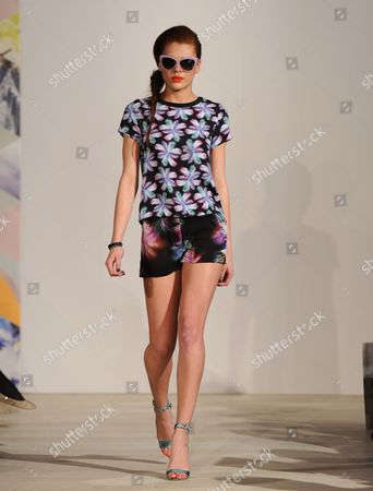 Stock Image of Jade Thompson on the catwalk