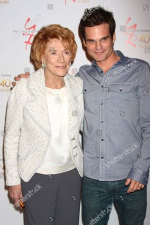 Stock Image of Jeanne Cooper and Greg Rikaart