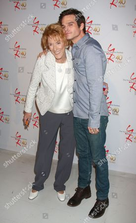 Stock Photo of Jeanne Cooper and Greg Rikaart