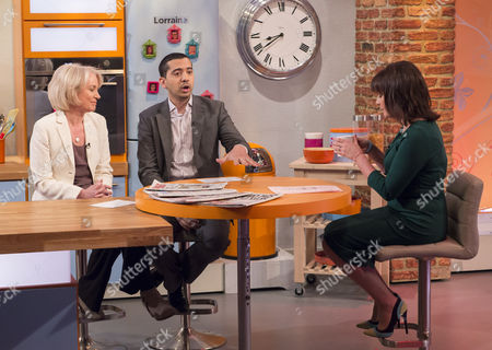 Sarah Baxter and Mehdi Hasan with Lorraine Kelly