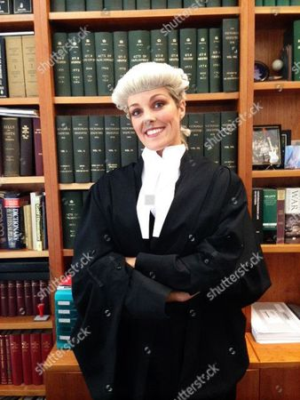 Bowie Jane in her barrister robes