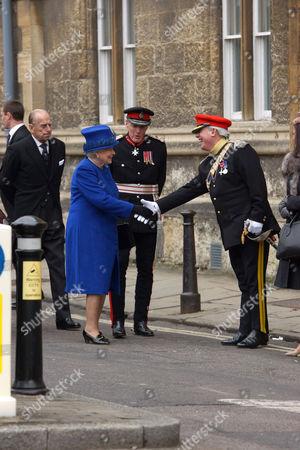 Prince Philip, Queen Elizabeth II and Sir Tim Stevenson