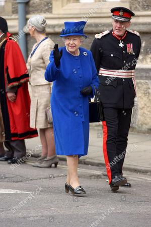 Stock Photo of Queen Elizabeth II and Sir Tim Stevenson