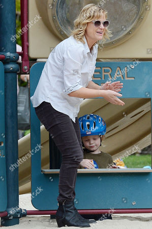 Amy Poehler and son Abel Arnett